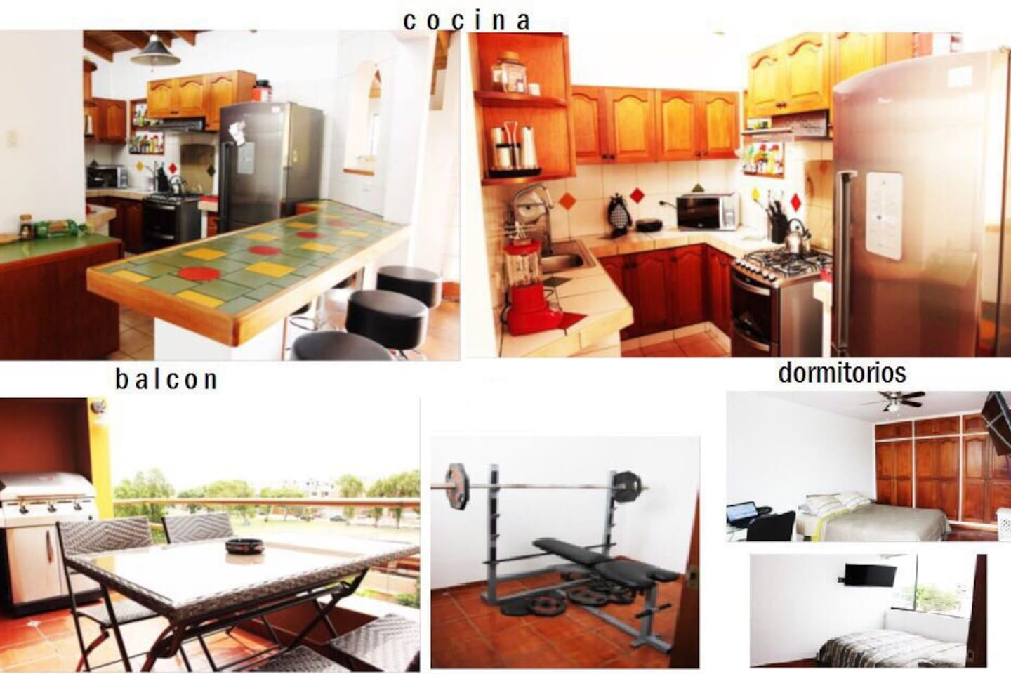 The common areas and room.