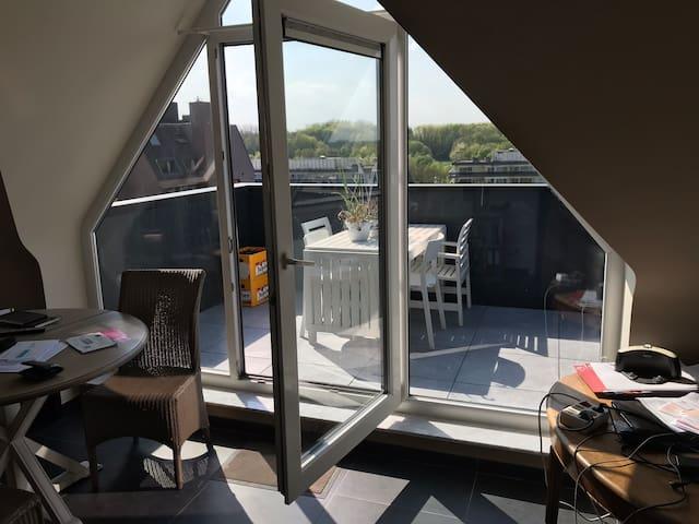 Lumineux et confortable appartement. Belle vue