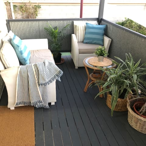 The front verandah is a lovely space to sit with a nice beverage and watch the sun set...