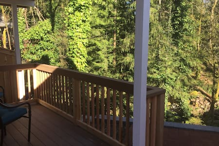 Private Cabin right on creek and 15 foot waterfall - 伊瑟阔(Issaquah) - 小木屋