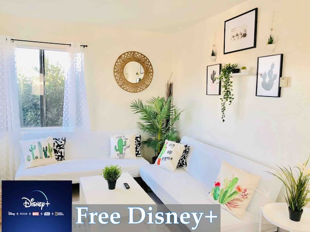 ✵Evergreen Succulent Apt 4 Min Away From Airport✵