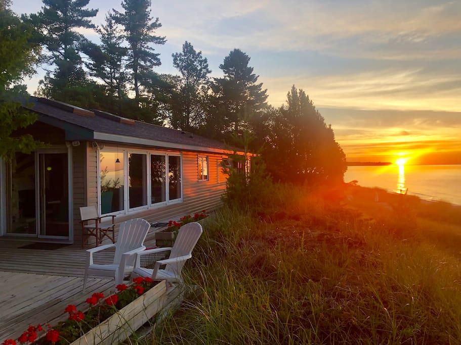 Sunrise at the Sand Beach Cottage