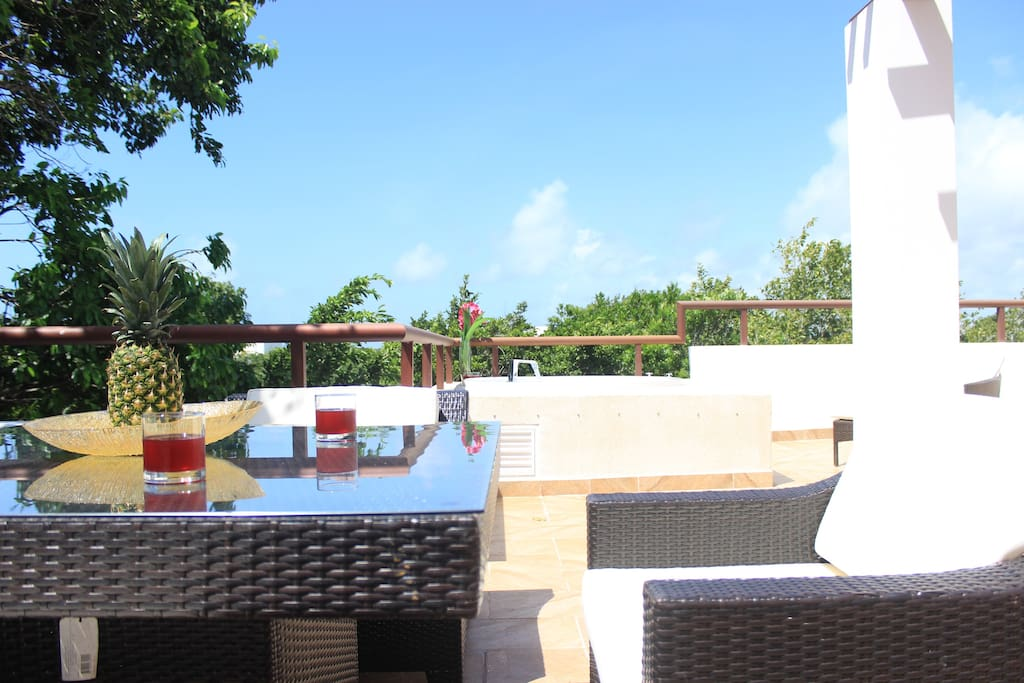 Fully Equipped Private Rooftop Terrace