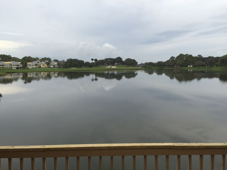 Great water to golf view at Sawgrass!