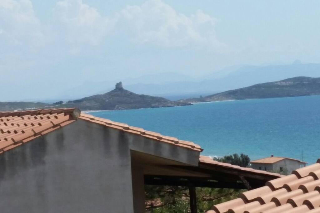 Vista dal balcone verso San Giovanni di Sinis.