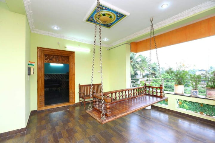 Budget home stay at Auroville. Work from Vacation!