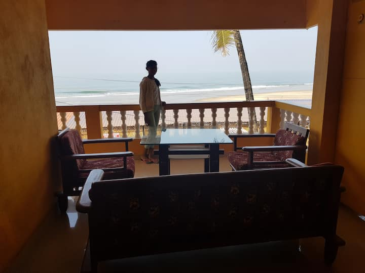 Two bedroom apartment with ashvem beach view