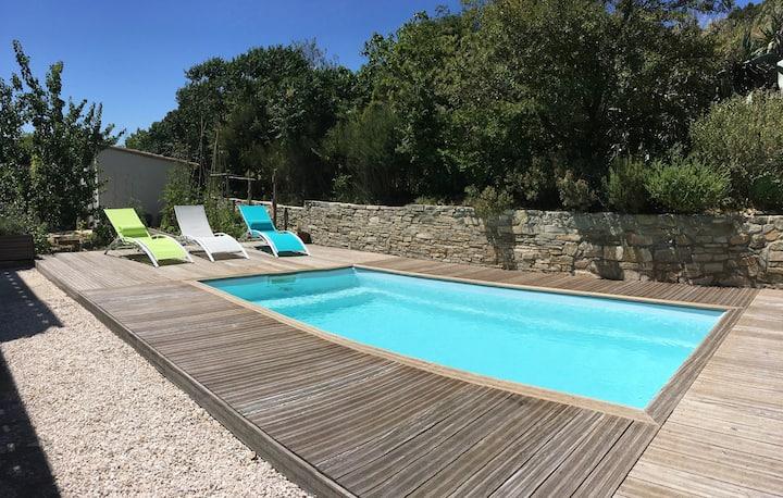 Villa avec piscine entre Mer et Garrigue, Armissan