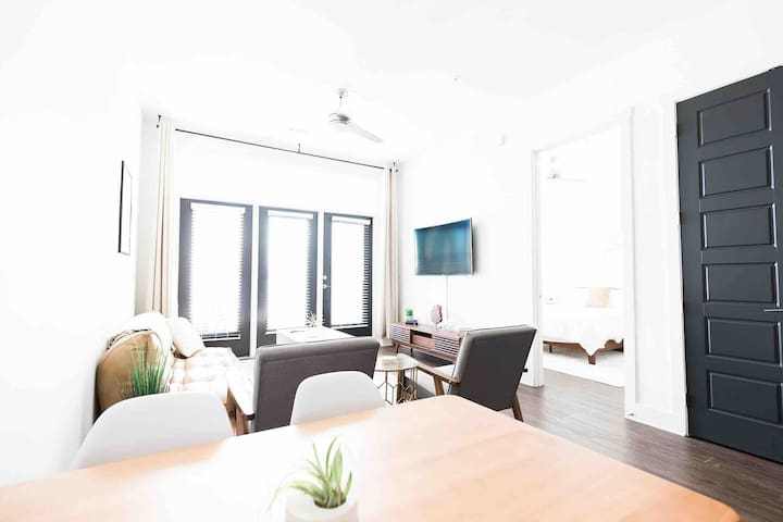 Decorated with a minimalist style in mind the apartments very neat yet cozy.