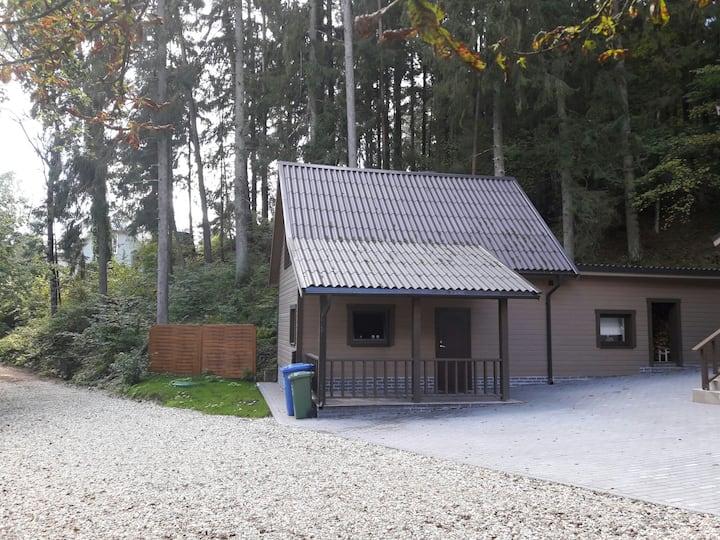 Дом с дровяной сауной у ручья