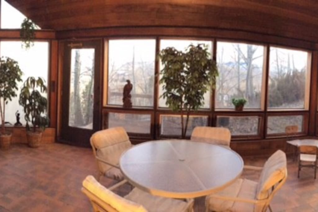 Sun Room, for sunshine, refreshment and private access.