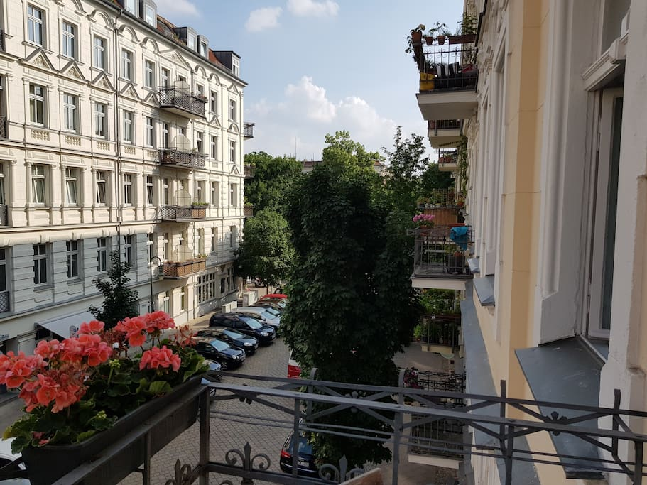 Balkon, Richtung Helmholtzplatz