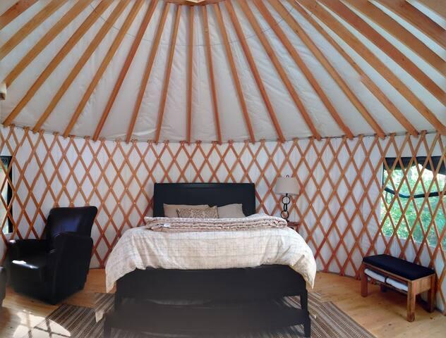 Inside the Bobcat Yurt