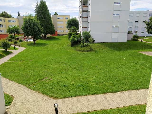 Apartment, green backyard, close to p. tran.&shop.