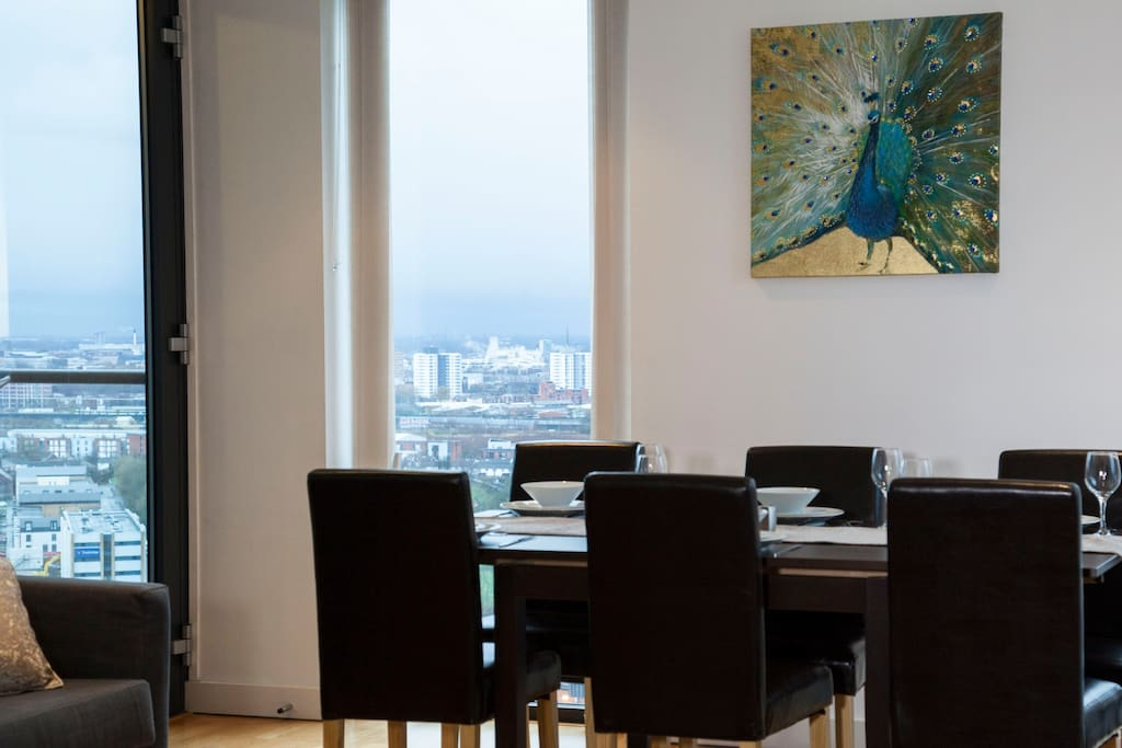 Dining with stunning views