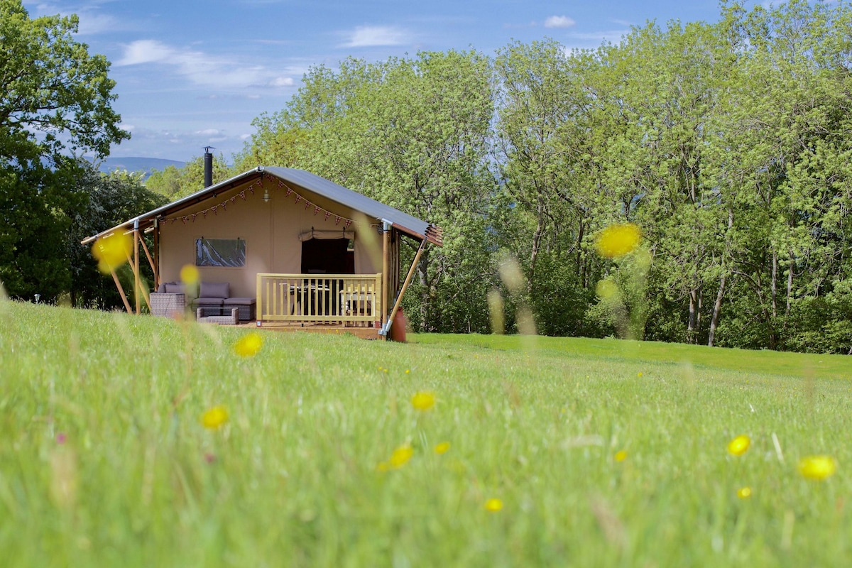 Gorgeous Posh Tent Gorgeous Posh Tent & Flock Off - Tent (sleeps 2-4) - Yurts for Rent in Hay now wye ...