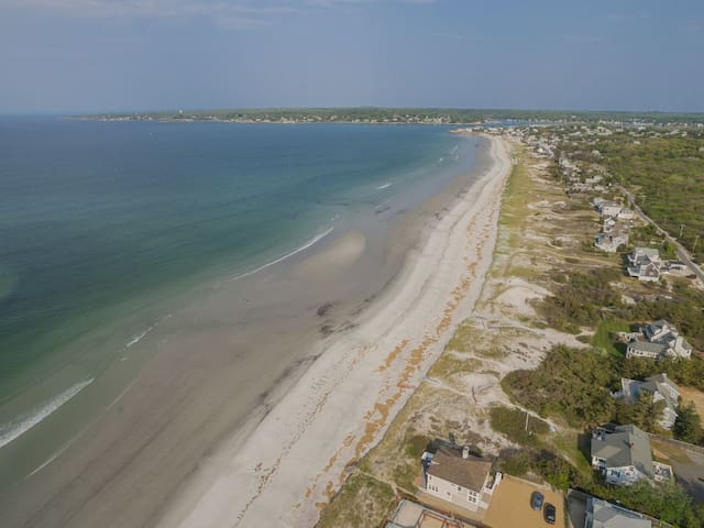 All yours  - private Coffin Beach for walking, sunbathing, surf, fish for sea bass, mackerel, bluefish (we have a pole, you supply bait).  You SAVE $25-30 a day in public beach fees!