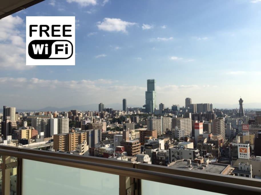 Namba/tower app upper floor! Superb view!