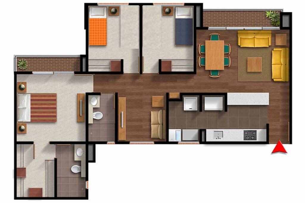 Apt 85 m2