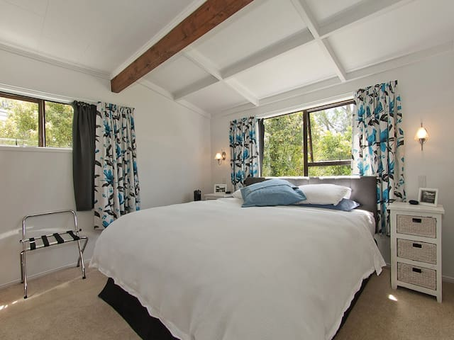 Blackout curtains and extremely comfortable beds makes your say a real retreat