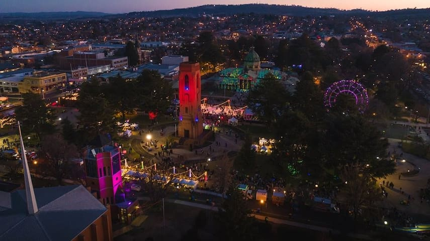 Light of Bathurst from the Winter Festival. Lots of fun for all.