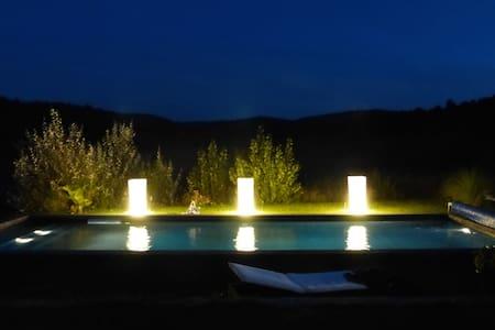 villa  Déco contemporaine Piscine chauffée 12 x 5 - Le Puy-Sainte-Réparade - Dom
