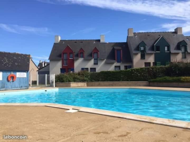Appartement T2 St Malo, résidence avec piscine