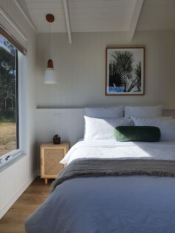 Stay in bed and watch the birds, bunnies, sunsets or look out to the night sky and star gaze.