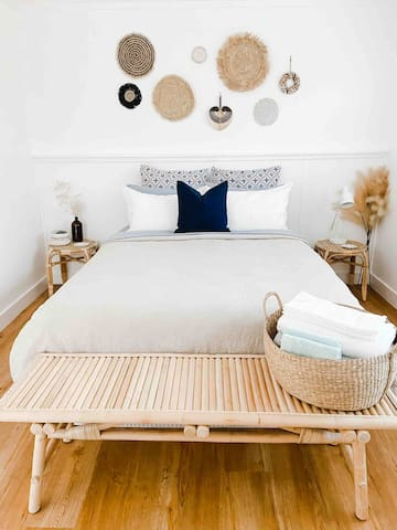 Master bedroom ~ queen sized bed including 100% French linen from I Love Linen