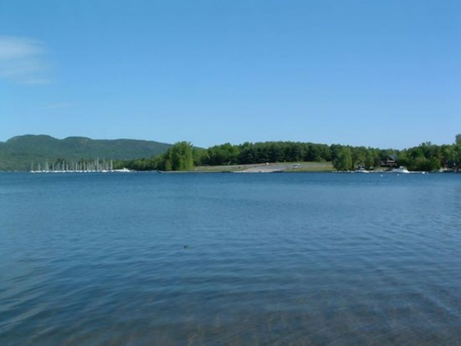 State boat launch and Marina