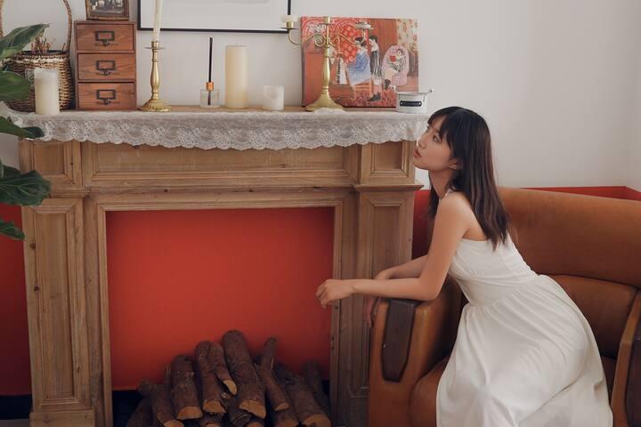 摄影师的家Room5《午后来信》—日系/时尚/复古/圣诞节日主题//电热毯/投影/限2人不可加客