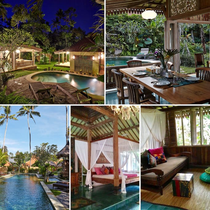 Villa Achintya's salubrious surroundings which include both a private pool and a lap pool.