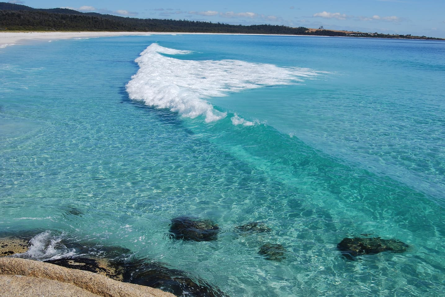 Our beautiful beach and crystal clear turquoise water
