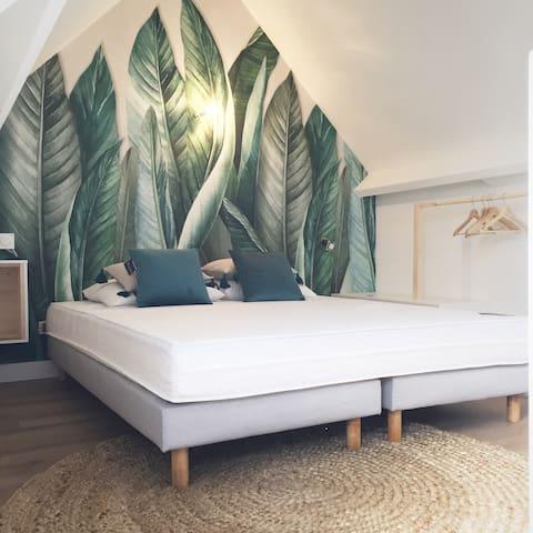 Chambre à l'étage (lit de 160cm)
