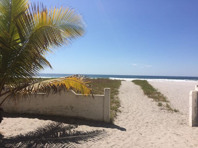 This is the pathway to heaven, directly from Bella Ciao, your bungalow, to the sand dune and the waves.