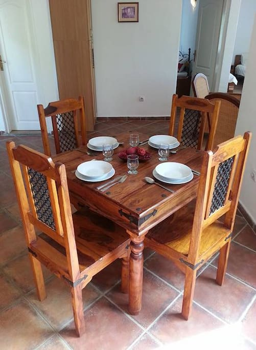 Lovely dining area with great views