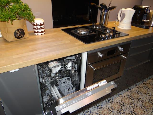lave-vaisselle, four, lave-linge