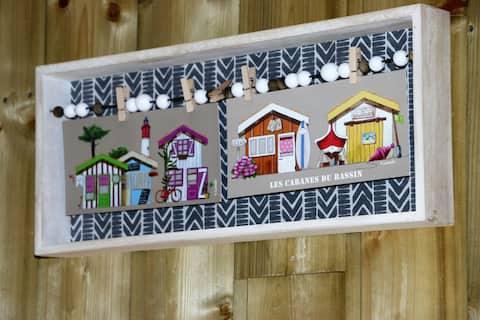 Studio 27 mètres carrés avec terrasse bois arborée