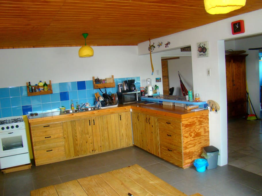 Wooden kitchen with all utilities you will need