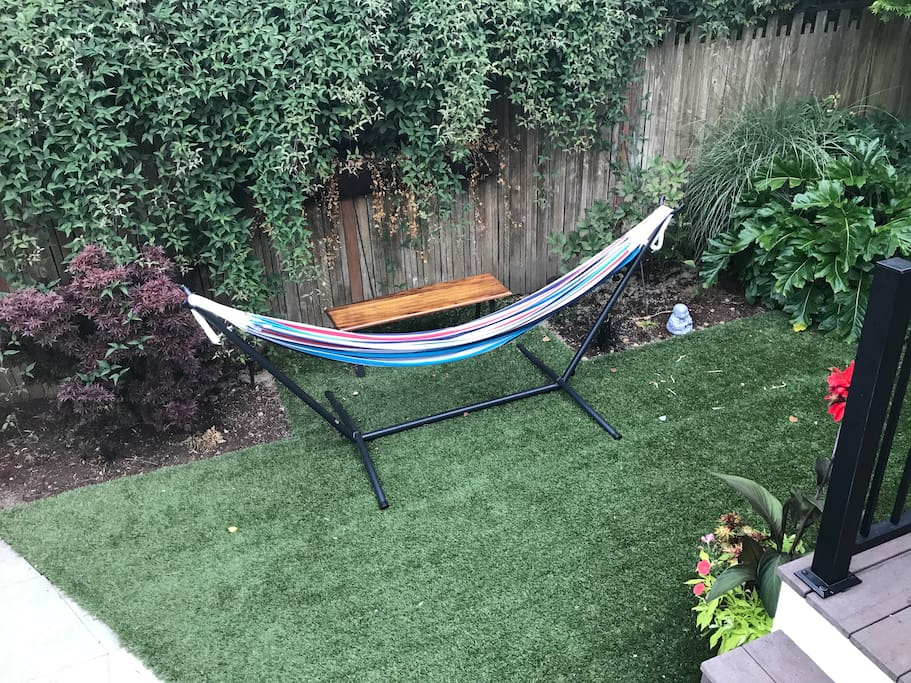 Wallingford couch or hammock (weather permitting ...