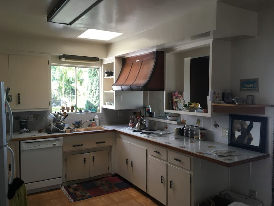 Bright, large kitchen