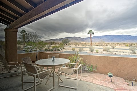 Escape to the California desert at this 1-bedroom, 1-bath vacation rental.