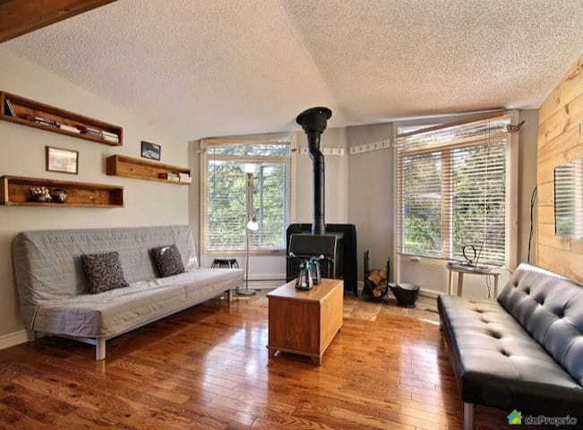 Cozy condo at the foot of Mont Sutton