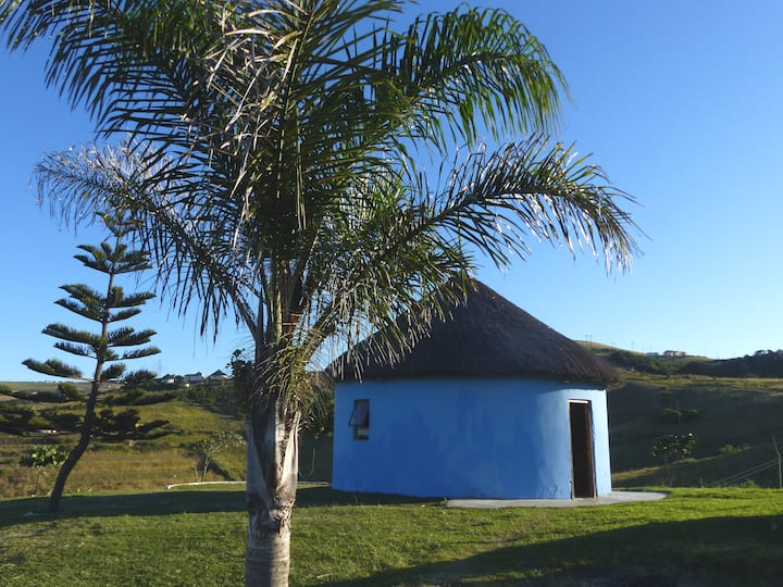 Sheep & Stars. Round Hut in rural Coffee Bay