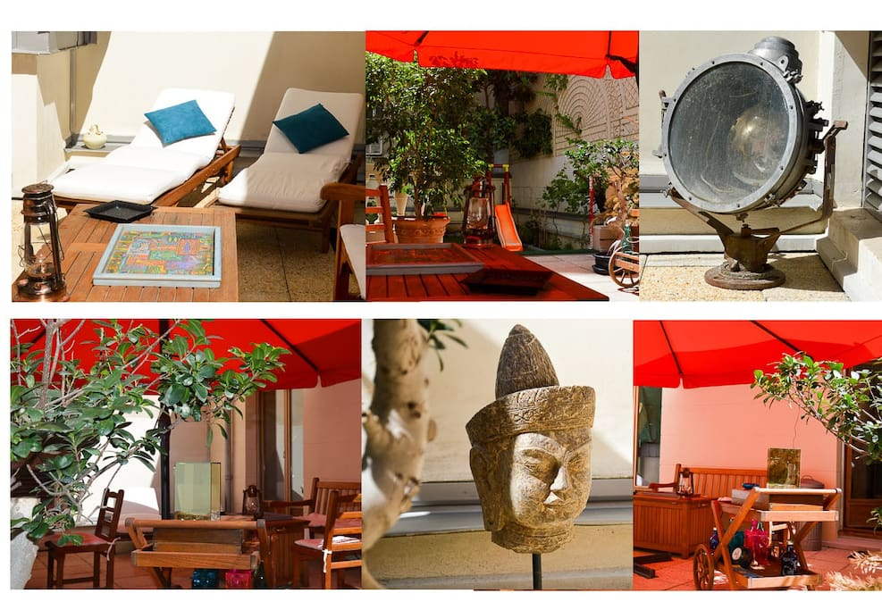 SPRING-SUMMER and AUTUMN Ship projector: 2° World war.  Head carved granite:  JAKARTA (JAVA - INDONESIA).