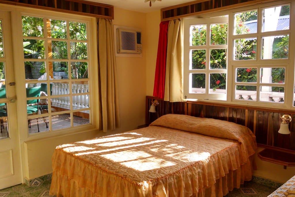 Room #1 - Room with large glass windows and excellent natural lighting looking over the delightful garden and terrace.