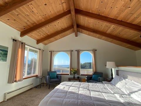 Mendocino Ocean View & Access to beach home  -EV