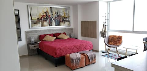 X(07) Cozy studio, Great location Barranquilla
