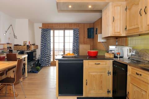 Appartement avec vue magnifique sur les Alpes