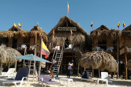 Cabins by the beach in Playa Blanca - Baru